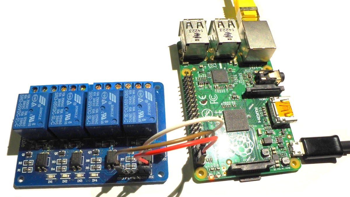 Pi B+ and relay - connected