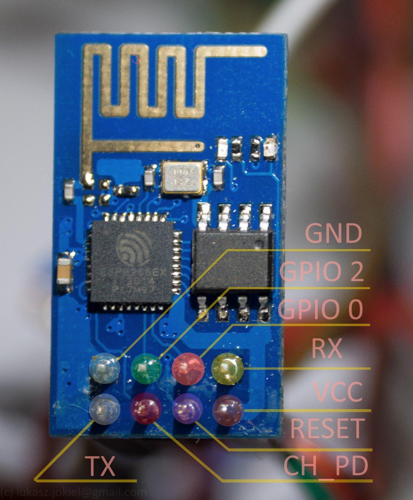 ESP-8266 01 PINout