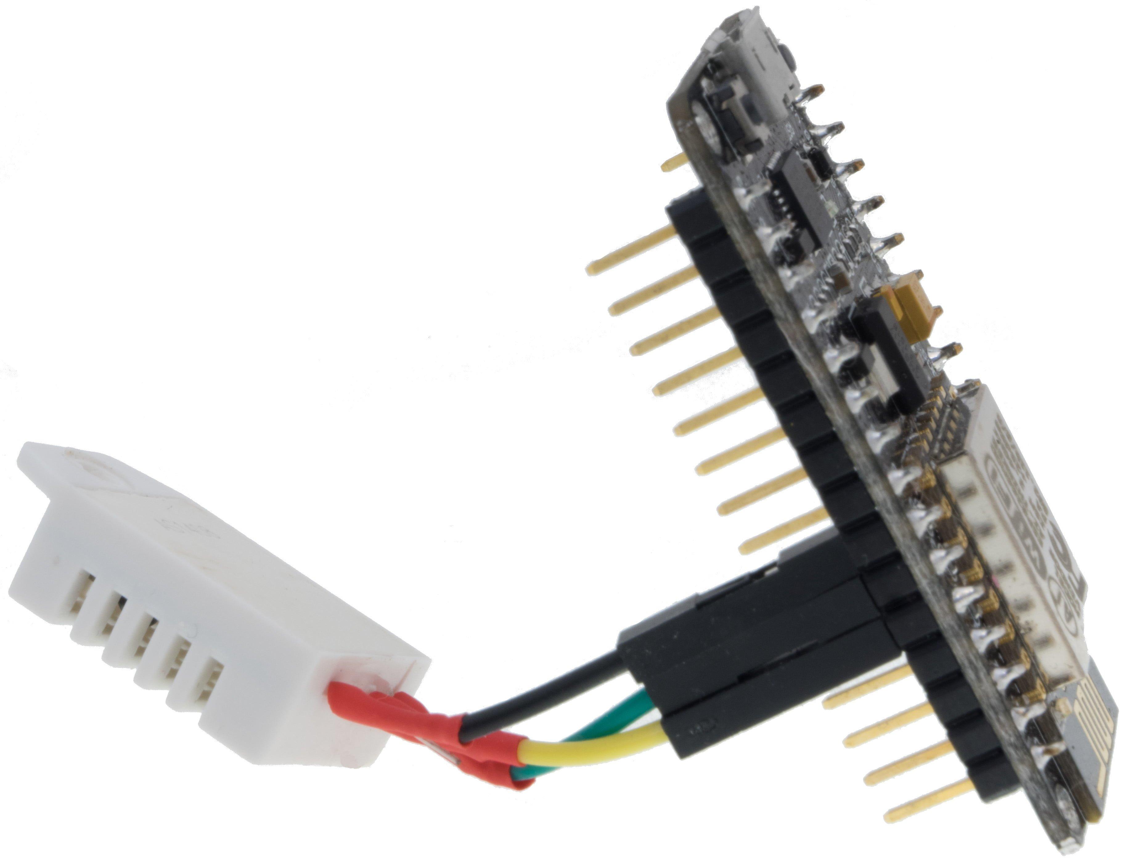 ESP8266 na NodeMCU Amica Board z czujnikiem DHT22 - podłączenie z boku