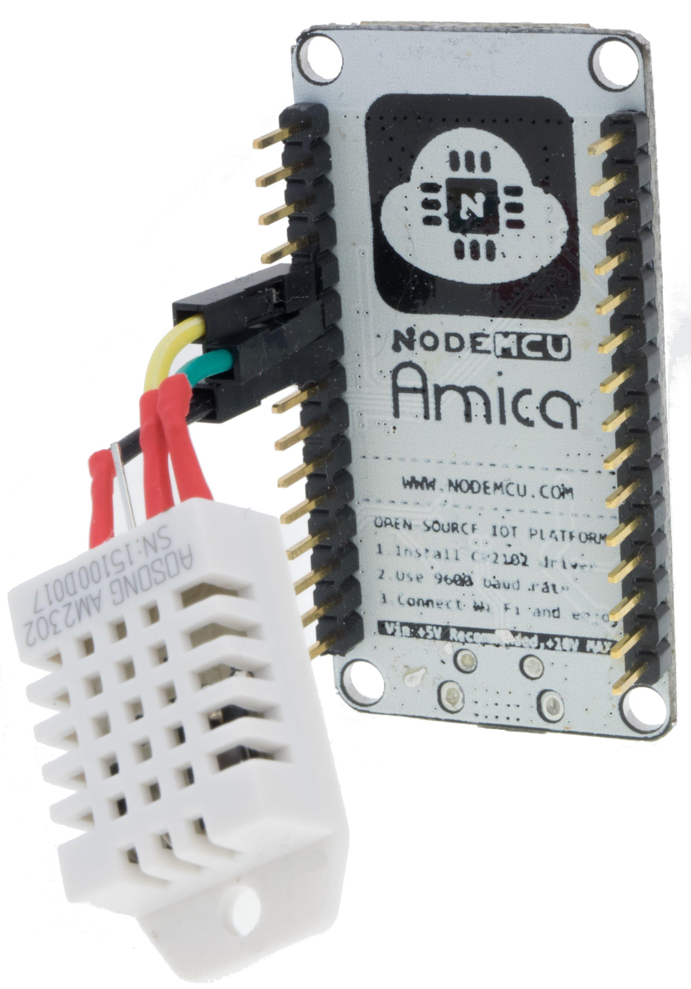 ESP8266 na NodeMCU Amica Board z czujnikiem DHT22