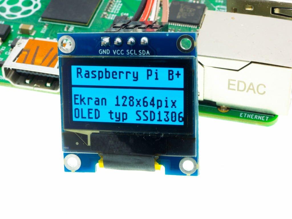 Wyświetlacz OLED SSD1306 - tekst
