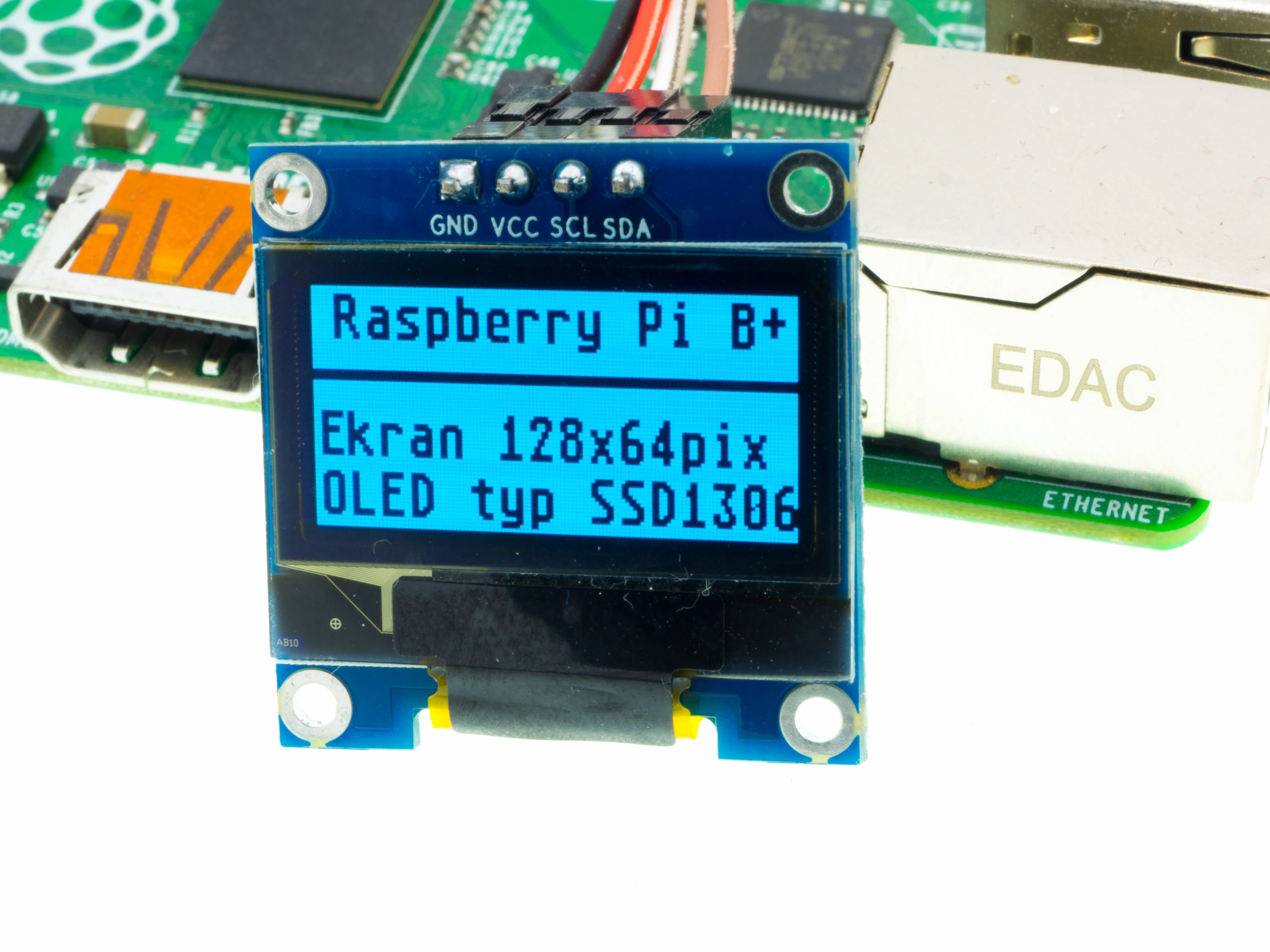 Oled Display Lets Play With The Technology Raspberry Pi 2 Wiringpi I2c Wywietlacz Ssd1306 Tekst