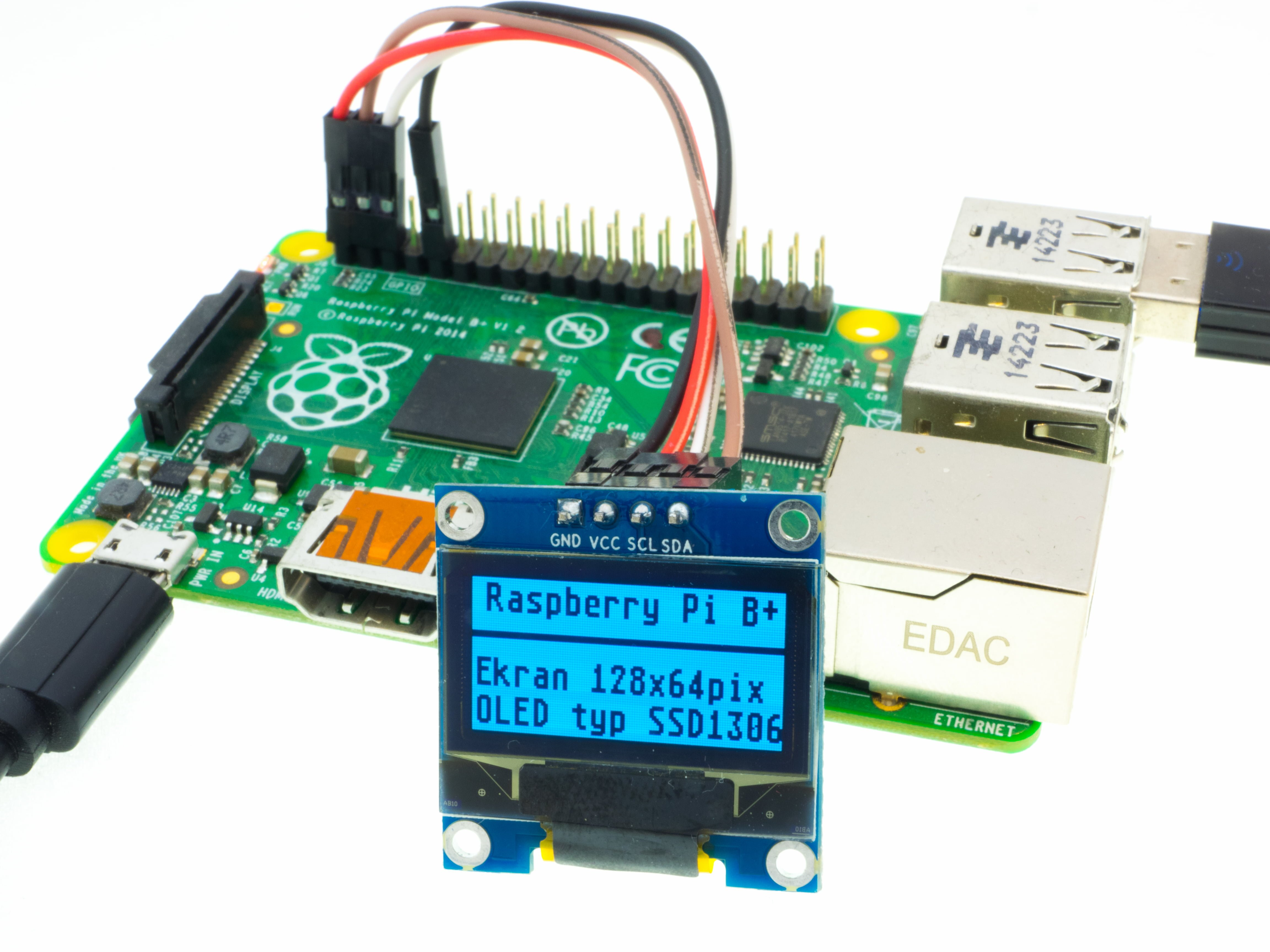 Raspberry Pi 2 Wiringpi I2c Oled Display Lets Play With The Technology Wywietlacz Ssd1306 Tekst