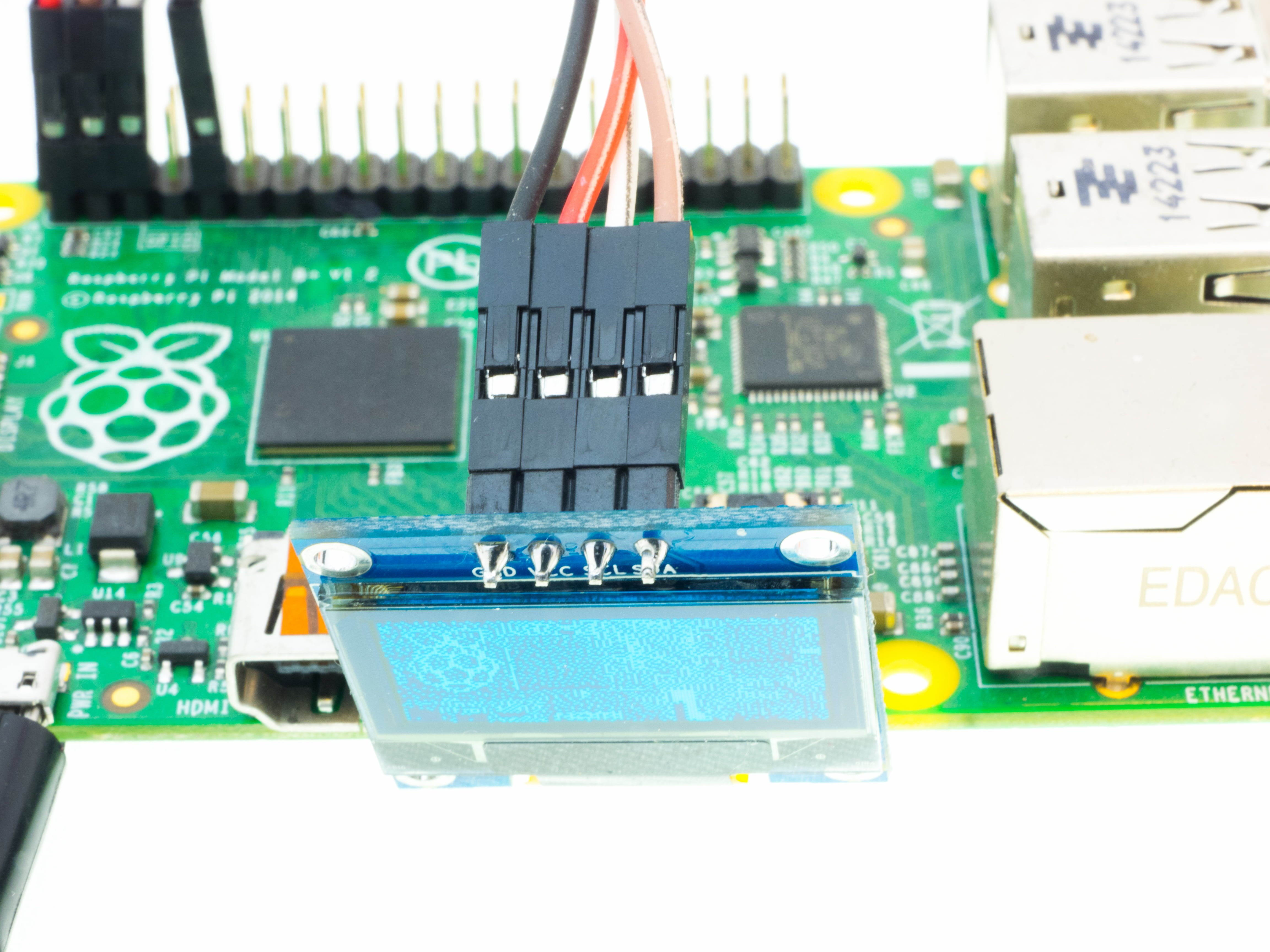Wyświetlacz OLED SSD1306 - podłączenie do wyświetlacza