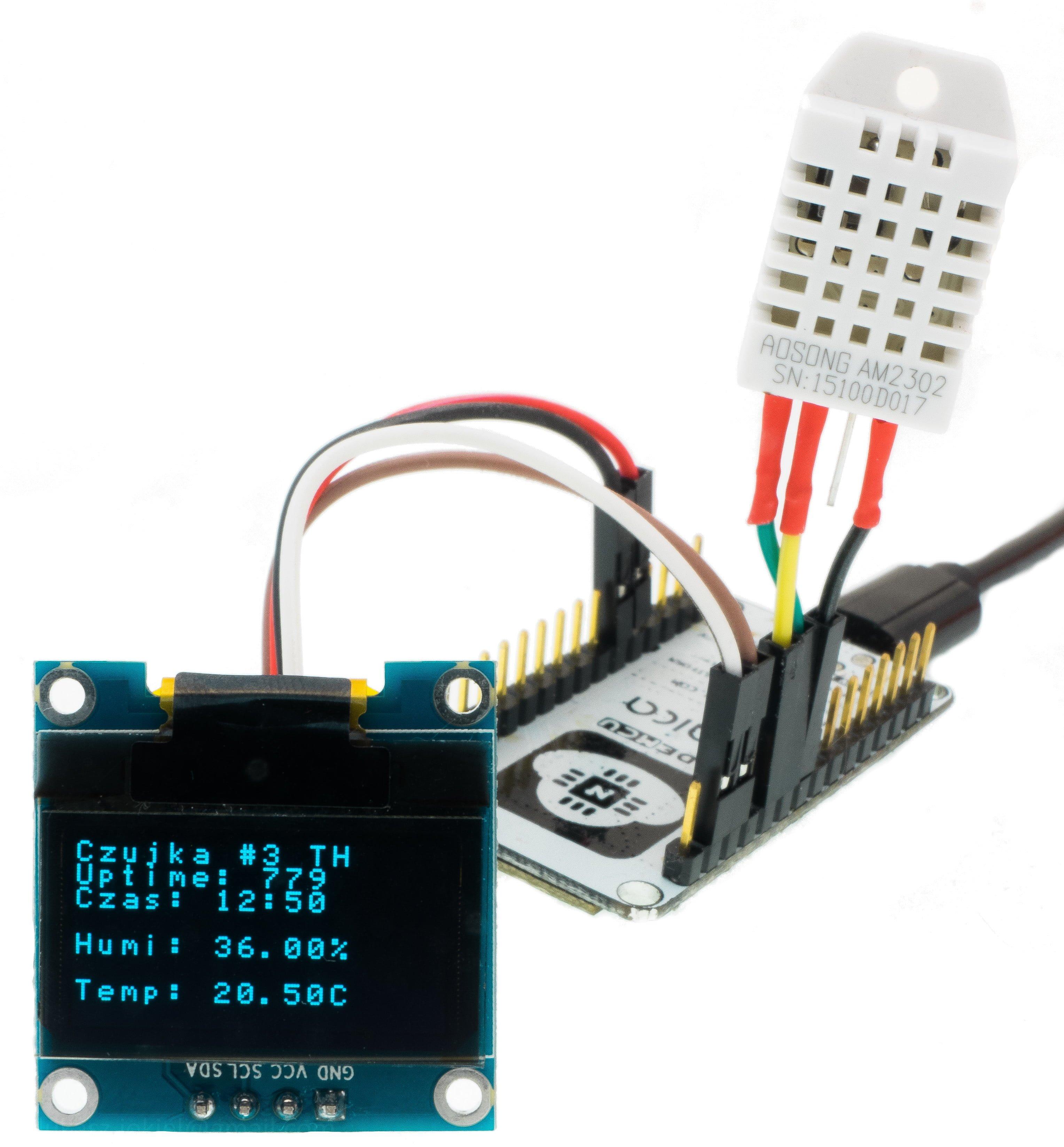 ESP8622 z wyświetlaczem SSD1306 (OLED) pod ESPEasy
