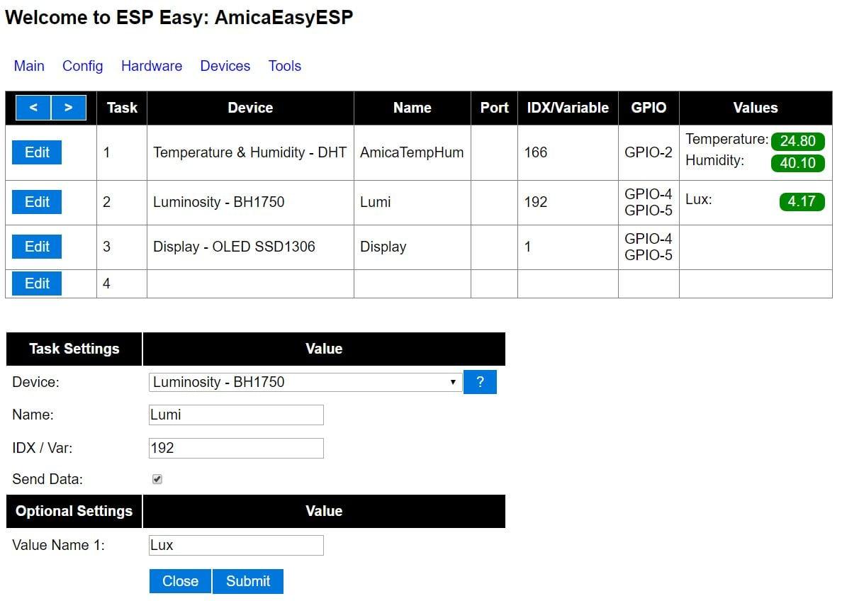 ESP Easy - BH1750