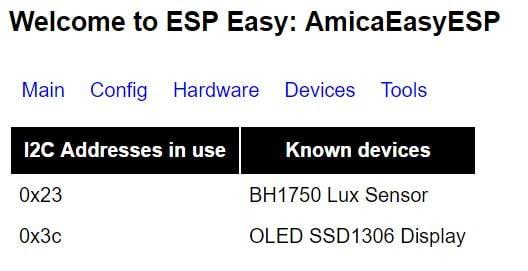 ESP Easy - Scan i2c