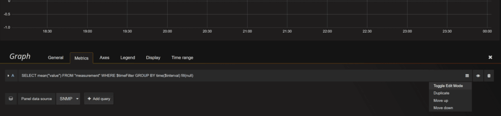 Grafana: Add db, toggle edit mode