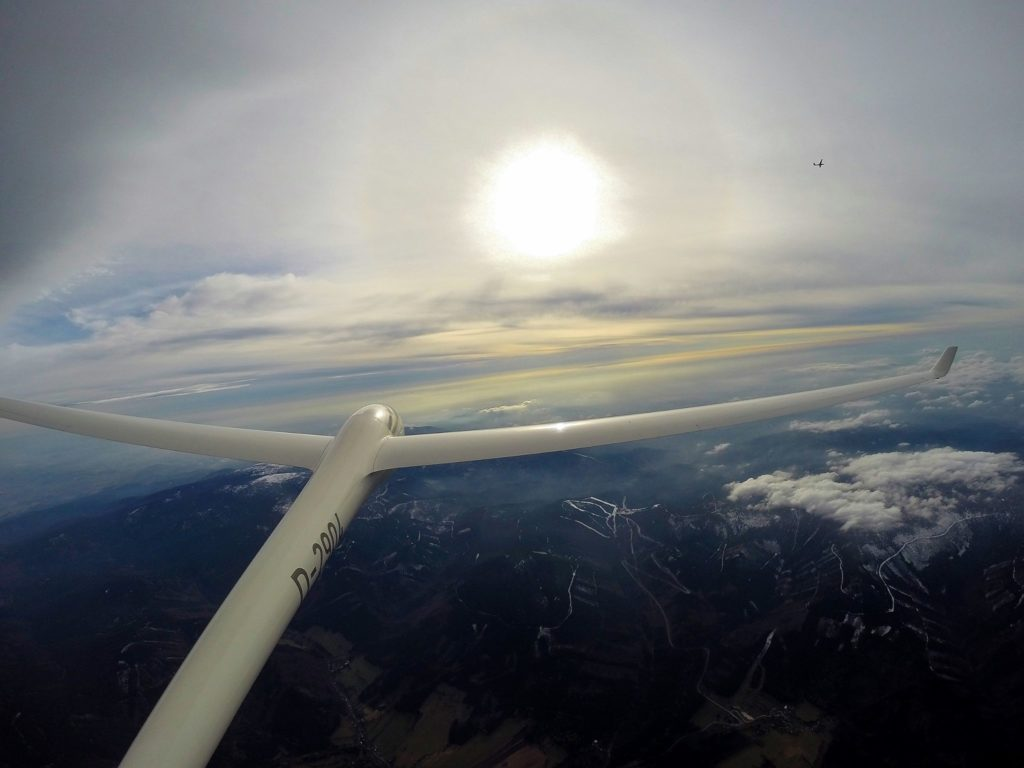 Glider's tail (photo by: Sebastian Lampart)