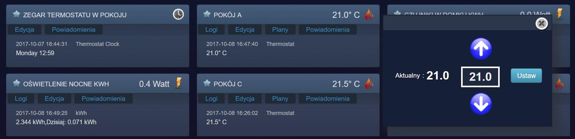 Ustawianie termostatu