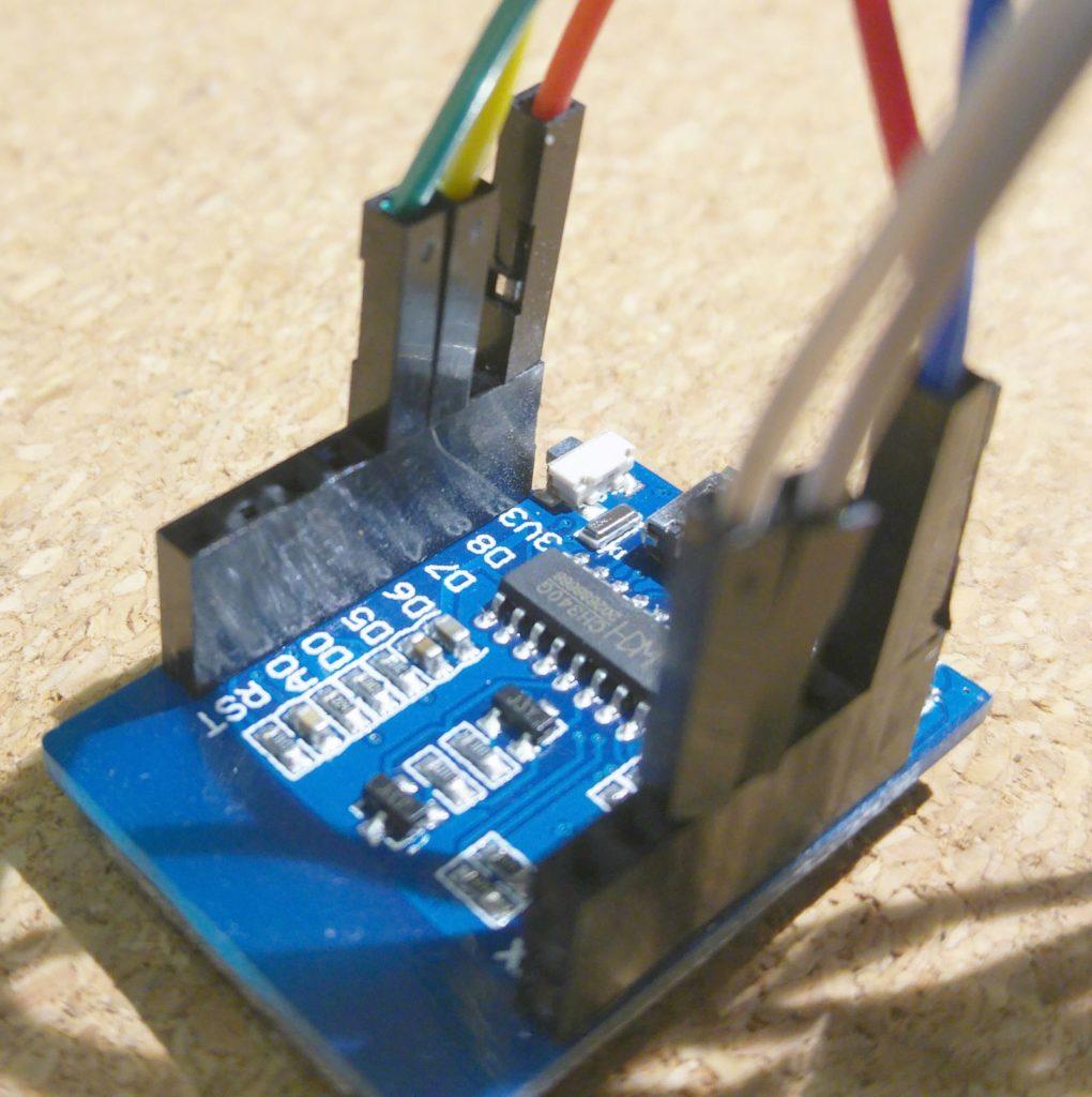 ESP8266 - SDS011 - połączenia