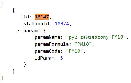 GIOS - pomiar - ID
