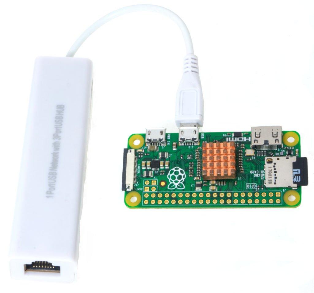 Raspberruy Pi Zero with Hub/Ethernet